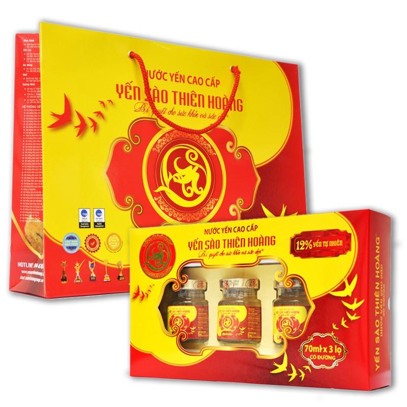 YẾN SÀO THIÊN HOÀNG CAO CẤP kèm túi (hộp 3 lọ) | Shopee Việt Nam